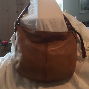 Coach lite brown leather handbag